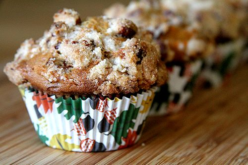 ... Pinch of Salt » Cranberry Carrot Cake Muffins with Pecan Streusel