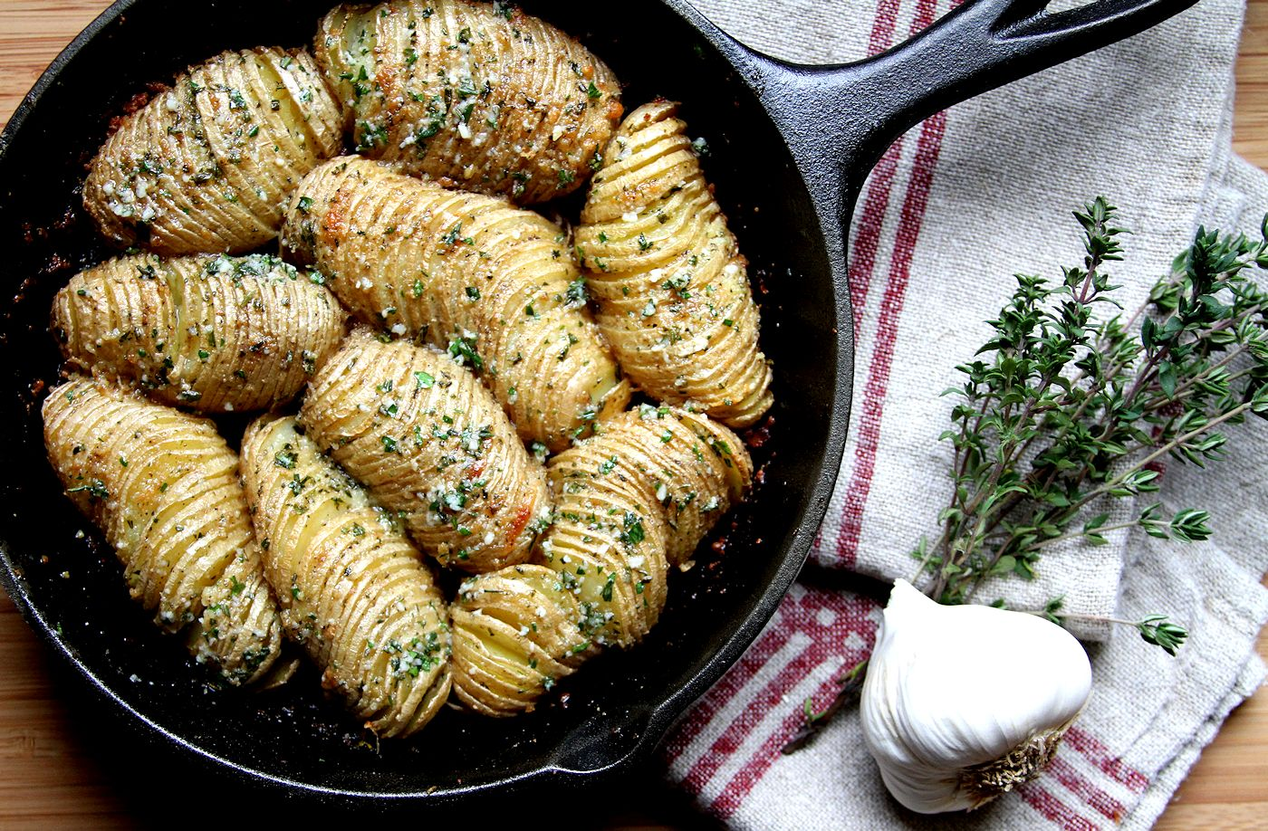 Hasselback Potato Skillet Bake A Cup Of Sugar A Pinch